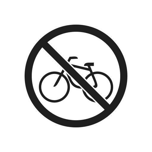 bicycle, interdiction, prevention, prohibiting sign, prohibition, prohibition sign, warning icon