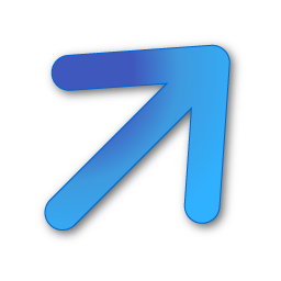 blue, down, right, up icon
