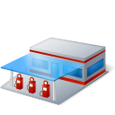 filling station, gas station, gasoline station, gasstation, petrol station icon