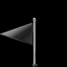 flag, flag1leftblack, pinpoint icon
