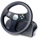 controller, gamepad, steering wheel icon