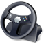 controller, gamepad, steering wheel icon