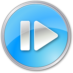 stepforwardpressedblue icon