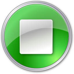 Stop, green icon - Free download on Iconfinder