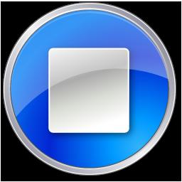 blue, stop icon