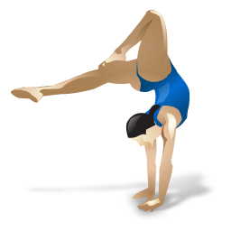 gymnastics, sports icon