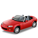 cabriolet, car, mazda, mx, red, transport, vehicle icon