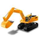 excavator, power shovel, vehicle icon