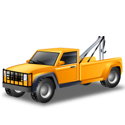 car, cars, towtruck, transportation, vehicle, yellow icon