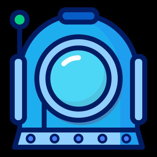 deep, dive, inkcontober, robot, suit icon