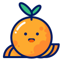 fruits, inkcontober, juicy, orange, smile icon