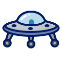 alien, character, game, inkcontober, misterious, ufo icon