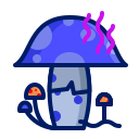 inkcontober, mushroom, poison icon