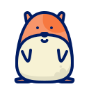 hamster, inkcontober, squeak icon