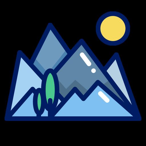 inkcontober, mountain, mountain sunrise, trail icon