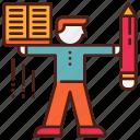 adult, language, literacy, reading, skill, writing icon