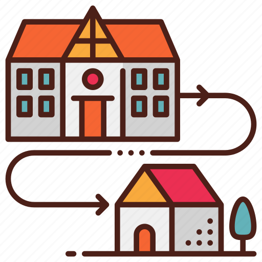 Distance, education, home, learning, school, study icon - Download on Iconfinder