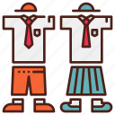 character, clothing, school, scout, uniform