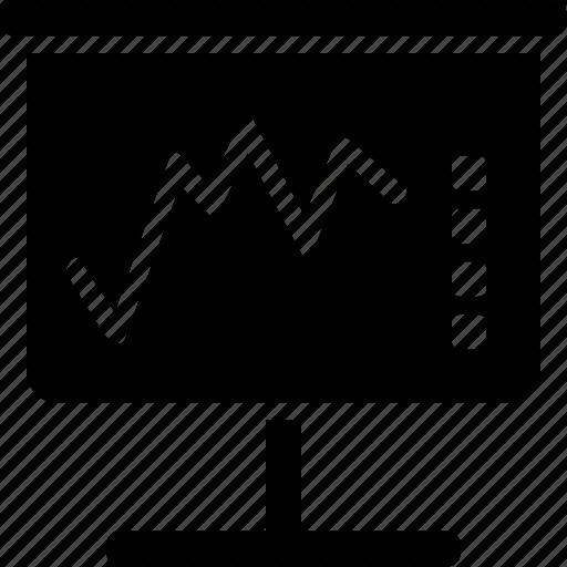 data, graphic, outcome, performance, presentation, results, visualization icon