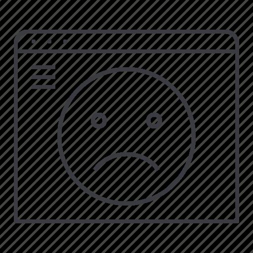 browser, error, page, website icon