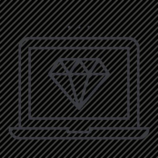 design, development, end, front, laptop, web icon