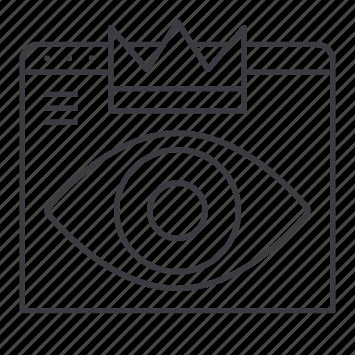 design, eye, hierarchy, visual, web icon