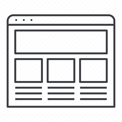 design, interface, page, site, web, wireframing icon