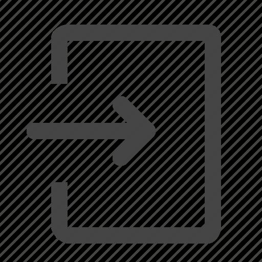 enter, in, login, signin icon