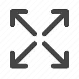 arrows, maximize, zoom out icon