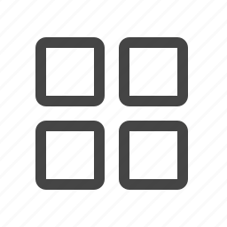 blocks, menu, thumbnails, tiles icon