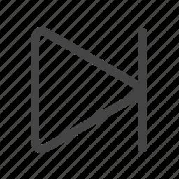 end, multimedia, skip icon