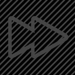 fast, forward, multimedia icon