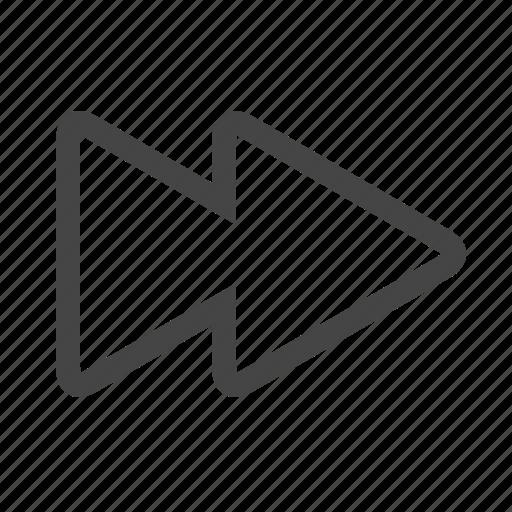 Forward, multimedia, fast icon