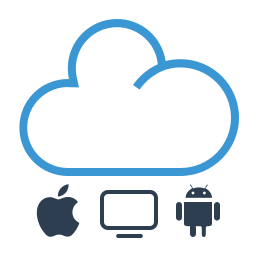 cloud, shared, sharing, work online icon