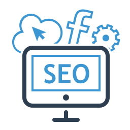 facebook, marketing, monitor, seo, seo package, service plan, sharing icon