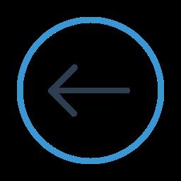 arrow left, circle, direction, move, prev, previous, west icon