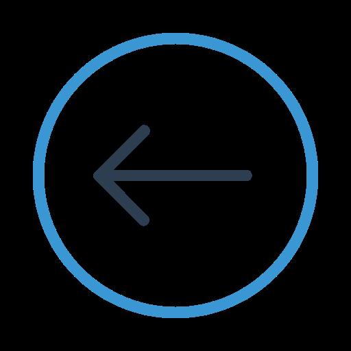 arrow left, direction, move, previous icon