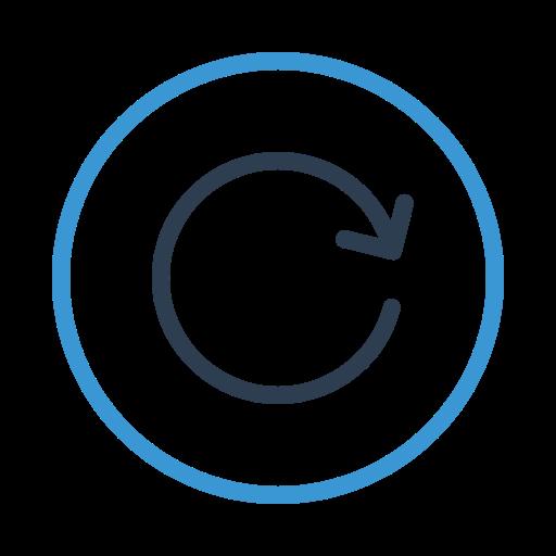 arrow, circle, refresh, reload, renew, sync, syncronize icon