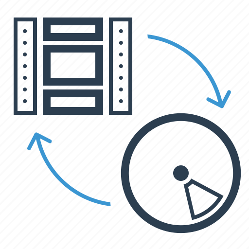 clip, disk, film, media, movie, studio, video conversion icon