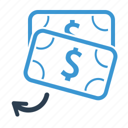 checkout, currency, money, money transaction, payback, payment, refund icon