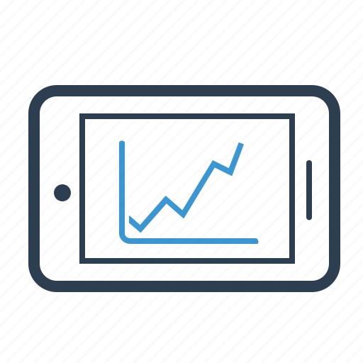 ads, advertising, chart, diagram, mobile analytics, phone, statistics icon