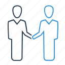 agreement, collaboration, cooperation, handshake, partnership icon
