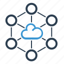 cloud, cloud computing, network, share icon