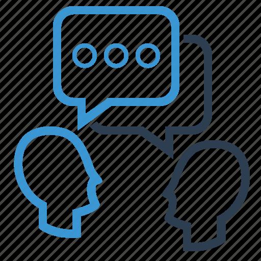 dialogue, discuss, talk icon