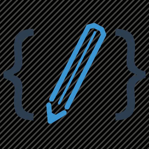 clean code, coding, custom coding, development, html, optimization, programming icon