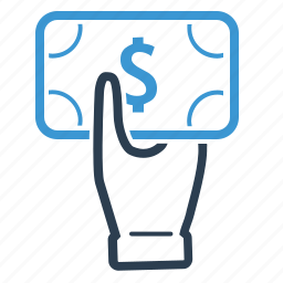 cash, dollar, give money, hand, money, pay, payment icon