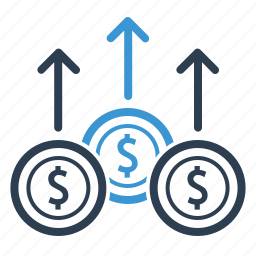 currency, dollar, earnings, finance, income, money, profit growth icon