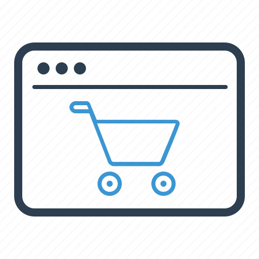 browser, ecommerce, shopping cart, web store icon
