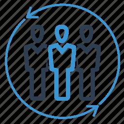 communication, group, leadership, management, organization, team, teamwork icon