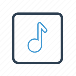 audio, media, mp3, music, note, sound, wav icon